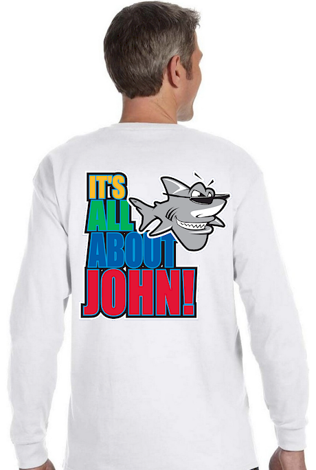 Men's long sleeve T It's all about John! - John the Shark
